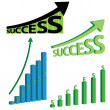 Set of success concept arts. — Stock Vector