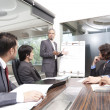 Young businessman giving presentation — Stock Photo