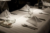 Dining table set up — Stock Photo