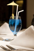 Close up of a blue martini — 图库照片