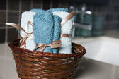Towel basket — Stock Photo