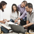 Stock Photo: Group of a multi ethnic students