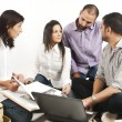 Group of a multi ethnic students - Stock Photo
