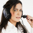 Stock Photo: Customer services operator