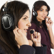 Portrait of a female customer services operator — Stock Photo