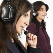 Portrait of a female customer services operator — Stockfoto #7461439