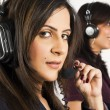 Portrait of female customer services operator — Stock Photo #7461486