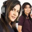 Portrait of female customer services operator — Stock Photo #7461519