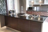 Modern kitchen in an apartment — Stock Photo