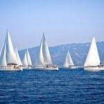 Sailing ship yachts — Stock Photo