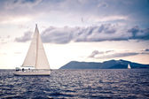 Sailing ship yachts — Stock Photo