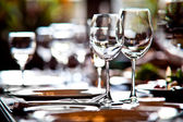 Empty glasses — Stockfoto