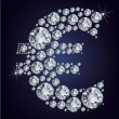 Euro symbol in diamonds. — Imagen vectorial