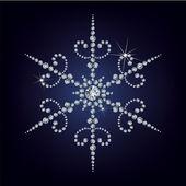 Νιφάδα χιονιού από διαμάντια. — Διανυσματικό Αρχείο