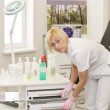 Nurse in search of the right tool — Stock Photo #7020105