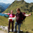 Stock Photo: Hikers in the Alps