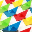 colored paper boats — Stock Photo #6864613