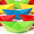 Colored paper boats — Stock Photo #6864704