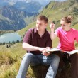 Hikers in the Alps — Stock Photo #6864732
