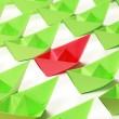 Colored paper boats — Stock Photo #6864798