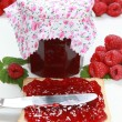 Stock Photo: Homemade raspberry jam