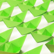 Green paper boats — Stock Photo