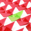 Stock Photo: Colored paper boats