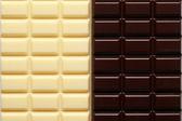 2 rodzaje czekolady — Zdjęcie stockowe