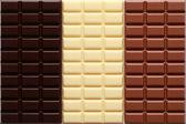 3 sorts of chocolate — Stock Photo