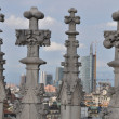 Gothic spires at Cathedral in Milano — Stock Photo