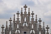 Gothic gable in Milano — Stock Photo