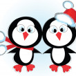Two penguins,vector, — Stock Vector