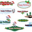 Stock Vector: Holidays banners,set