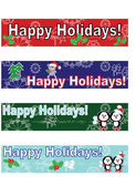 Holidays banners,set — Stock Vector