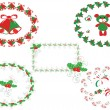 Christmas decor ,vector — Stock Vector #7604171