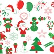 Christmas decor ,vector — Wektor stockowy #7604187