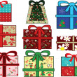 Stock Vector: Christmas gifts set