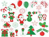 Christmas decor ,vector — Stock Vector