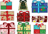 Christmas gifts set — Stock Vector