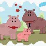 Hippo family — Stock Photo #7767620