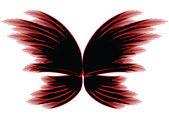 черно красный бабочка — Стоковое фото