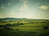 Grunge image of landscape — Stock Photo