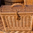 Handmade wooden wicker basket. — Stock Photo