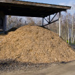 Stock Photo: Biomass fuels. Chipped wood. Natural fuels.