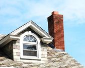 Closeup chimney on the roof — Stock Photo