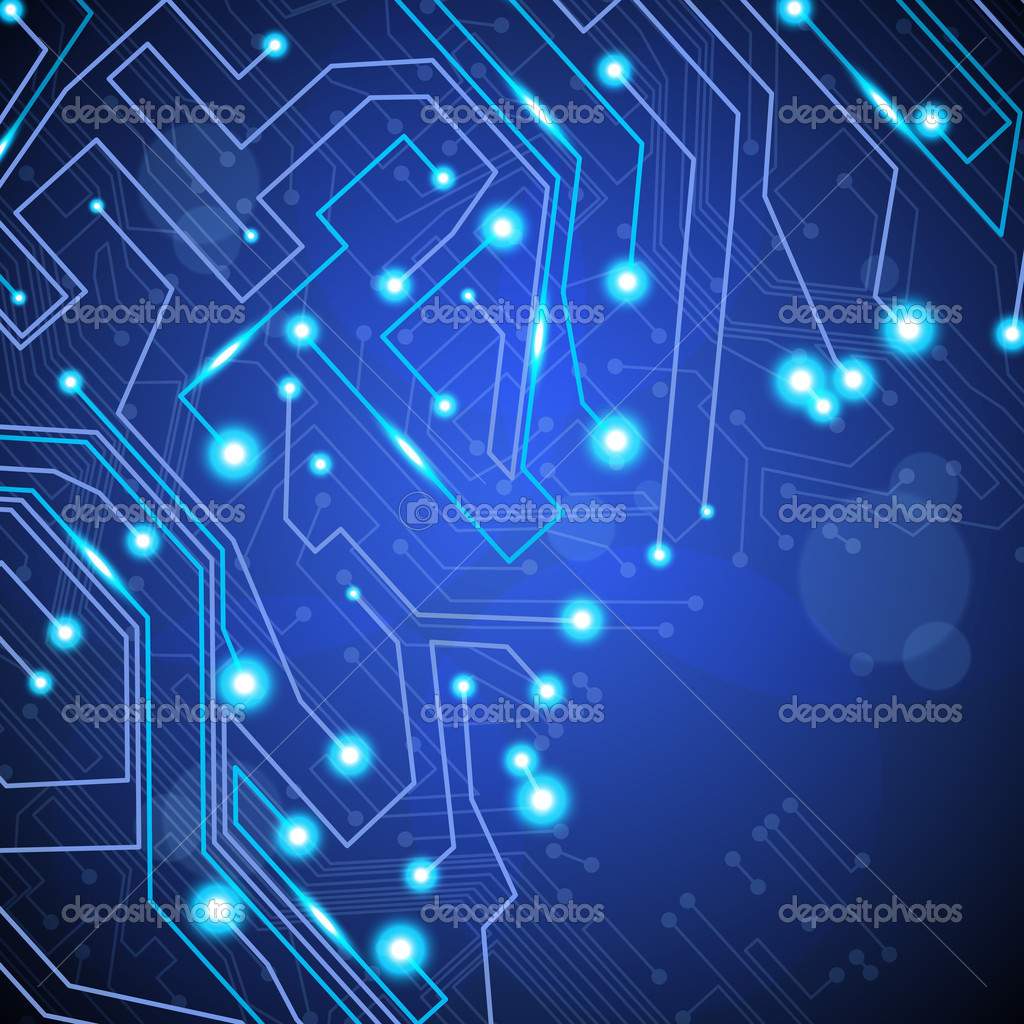 Circuit board vector background, technology illustration eps10 — Stock Vector #7797762