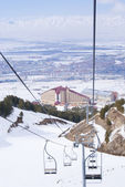 View on Erzurum from skilift in Palandoken — Stock Photo