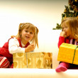 Kids by Christmas Tree — Stock Photo #7403806