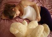 Na expectativa do bebê — Foto Stock