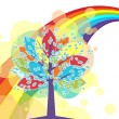 A tree with a rainbow — Stock Vector #7024653